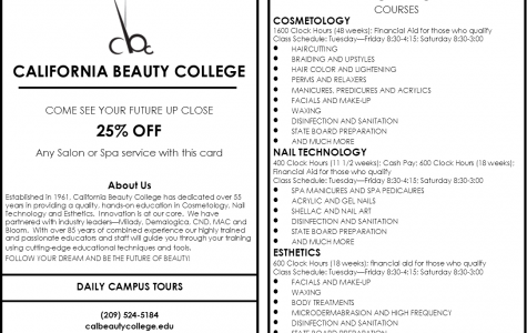 California Beauty College: 25% OFF!!