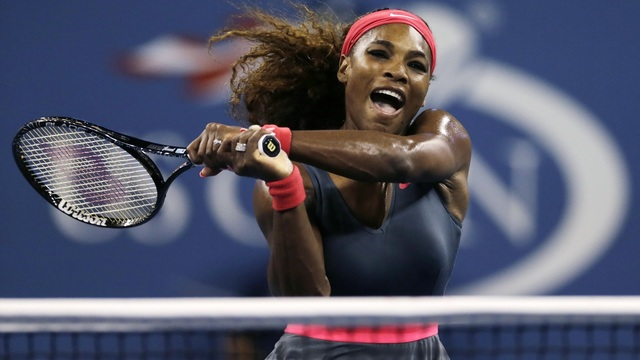 Serena+Williams%2C+of+the+United+States%2C+yells+as+she+charges+the+net+for+a+return+against+Yaroslava+Shvedova%2C+of+Kazakhstan%2C+during+the+third+round+of+the+2013+U.S.+Open+tennis+tournament%2C+Saturday%2C+Aug.+31%2C+2013%2C+in+New+York.+%28AP+Photo%2FCharles+Krupa%29